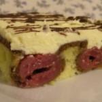 Kirsch-Kuchen, Buttercreme-Torte, österreichisch