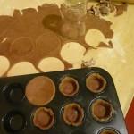 Mürbteig, Muffinsform, Schokoteig, Törtchen, Minikuchen, Minimuffin, Muffin, Tortelett